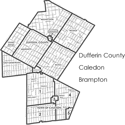 Serving Dufferin County: Amaranth, Brampton, Caledon, East Garafraxa, Erin, Grand Valley, Hillsburgh, Melancthon, Mono, Mulmur, Orangeville and Shelburne